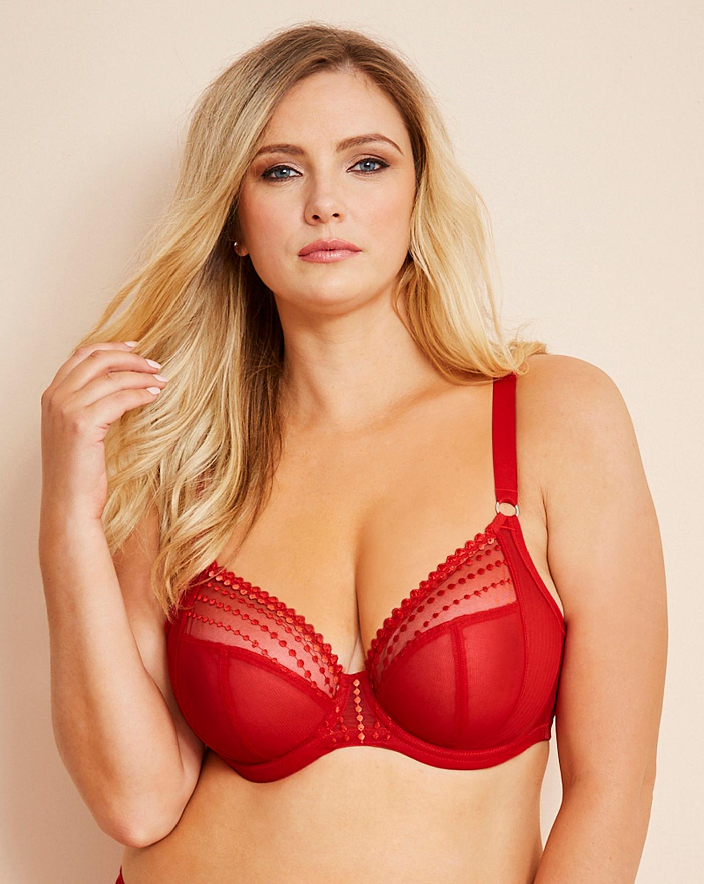 6743a34919c9f Elomi Matilda Flame Plunge Wired Bra | Simply Be