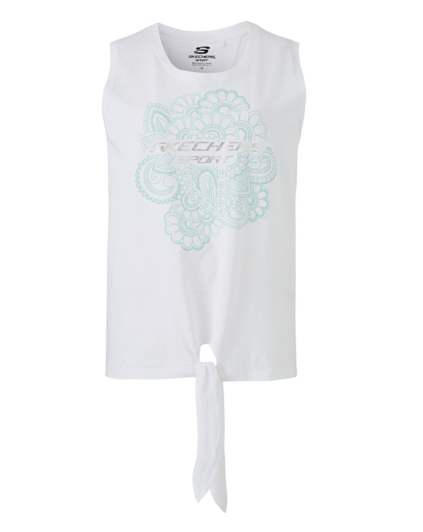 really comfortable 50% price official shop Skechers Zen Jersey Tie Front Vest Top | Simply Be