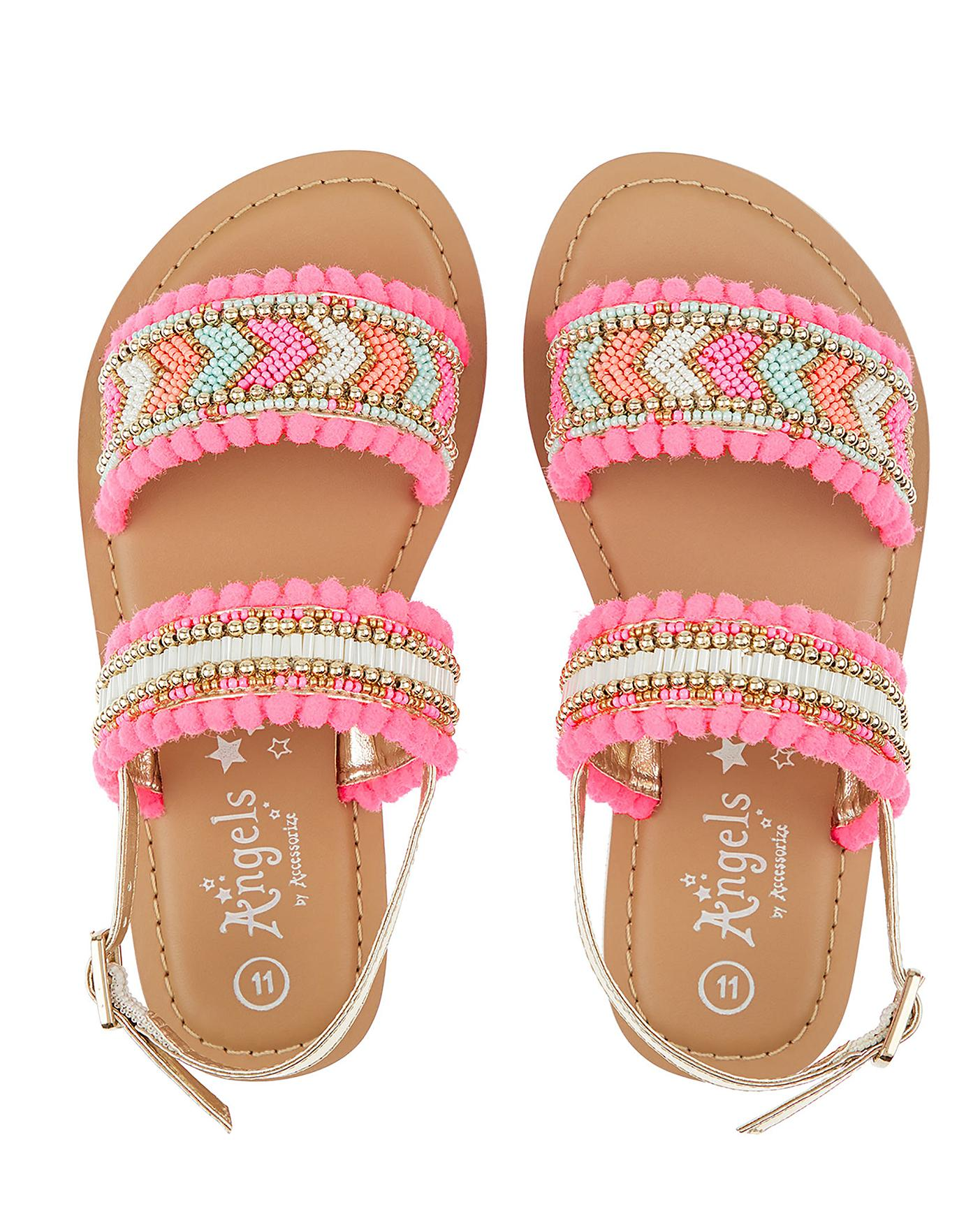 479b33310 Description. This item is despatched direct from the supplier. Accessorize Santorini  Beaded Pom Sandal ...