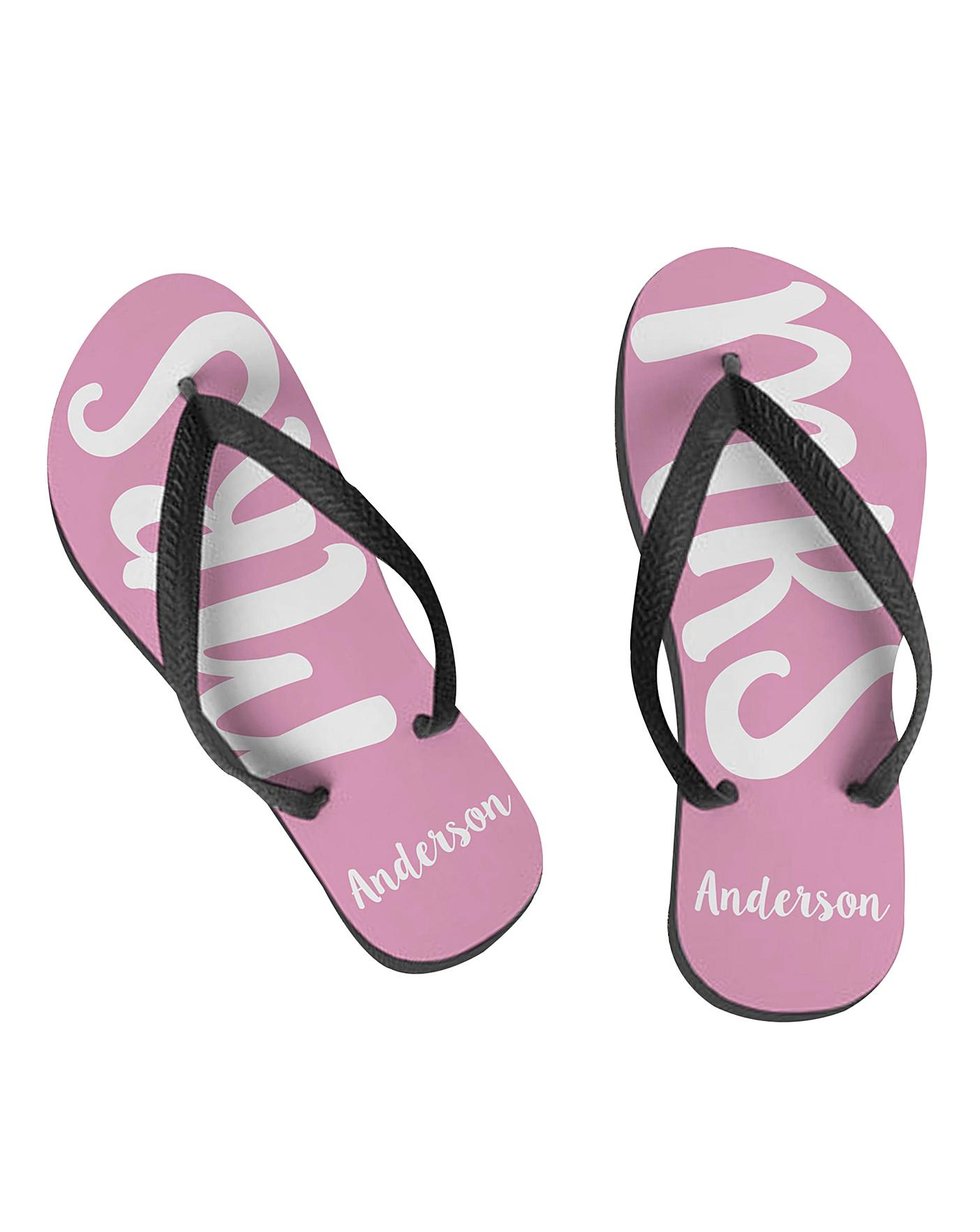 e212d9082cb6 Personalised Mrs Flip Flops