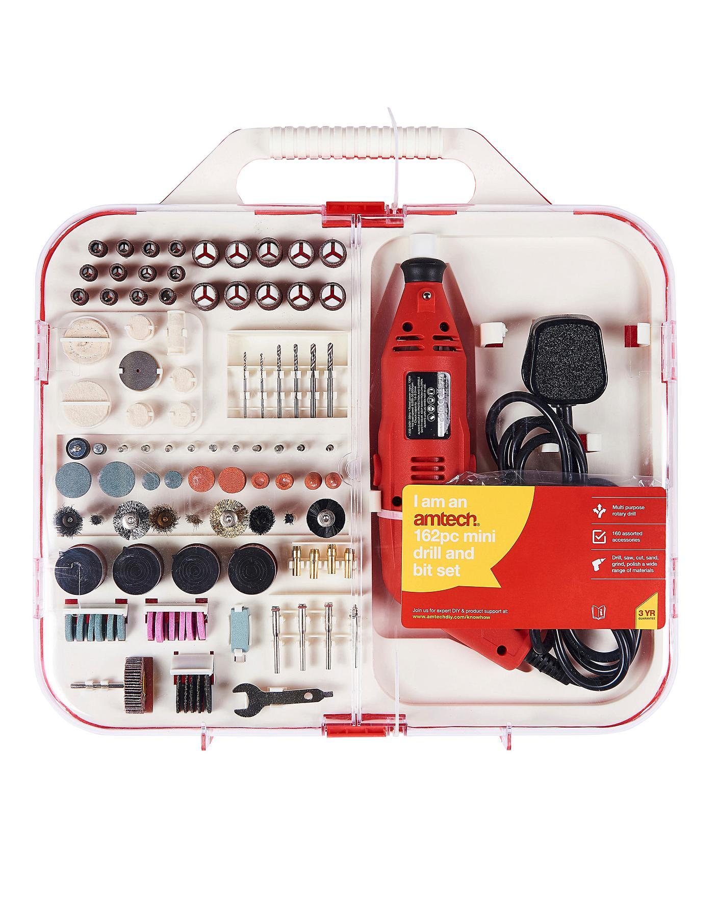 AmTech 162Pc Mini Drill & Bit Set