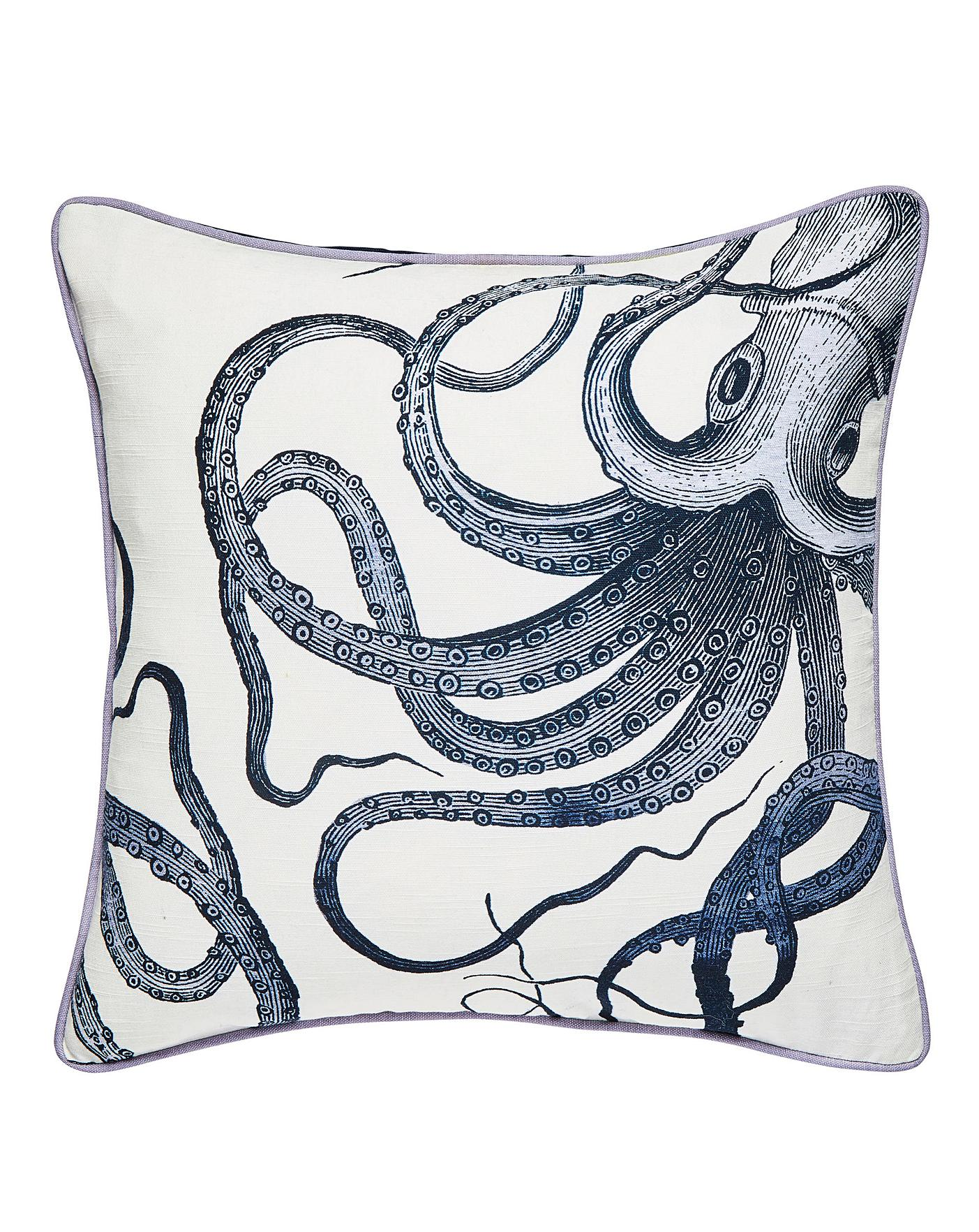 Octopus Printed Cushion Simply Be