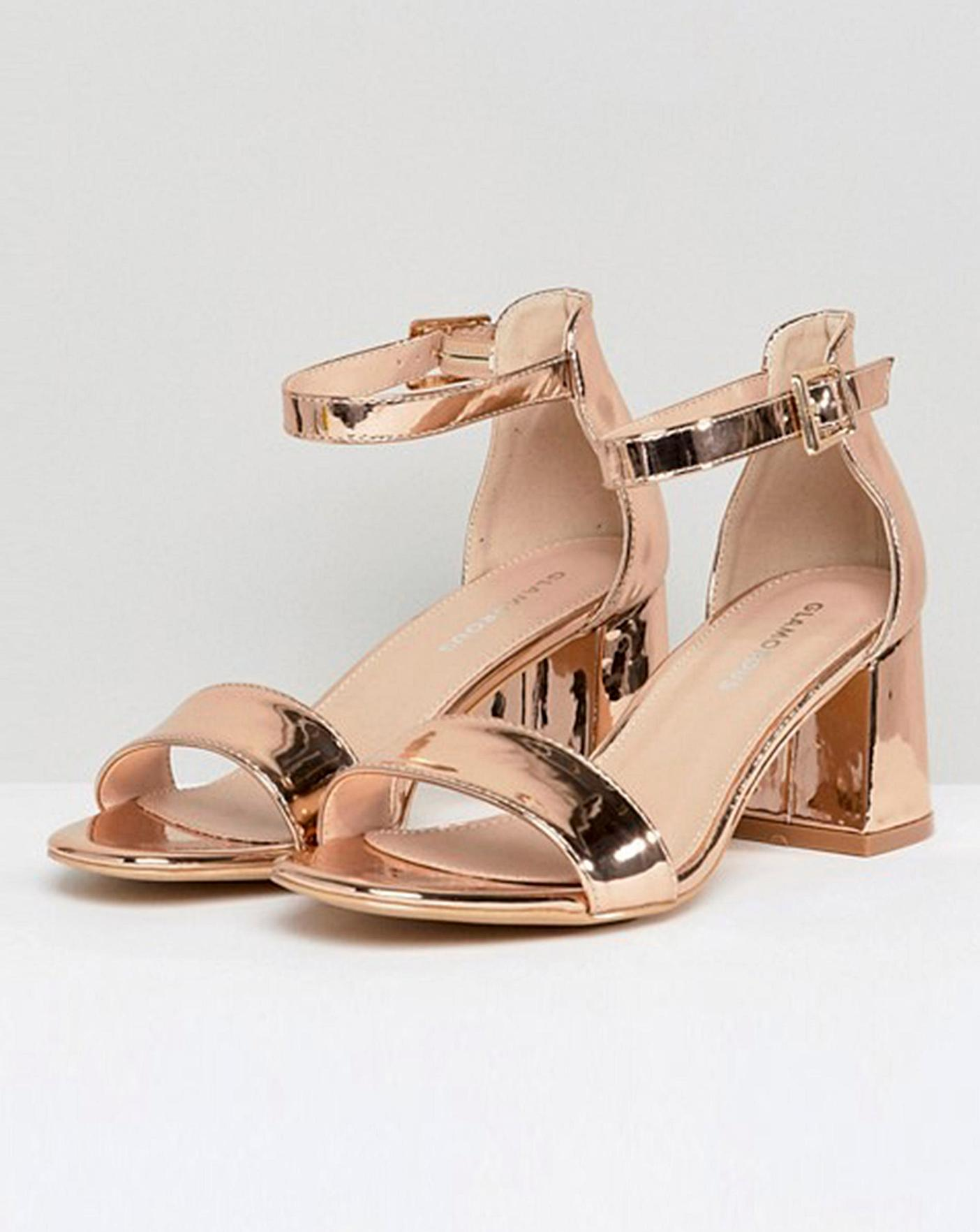 Glamorous Block Heel Sandals Wide Fit