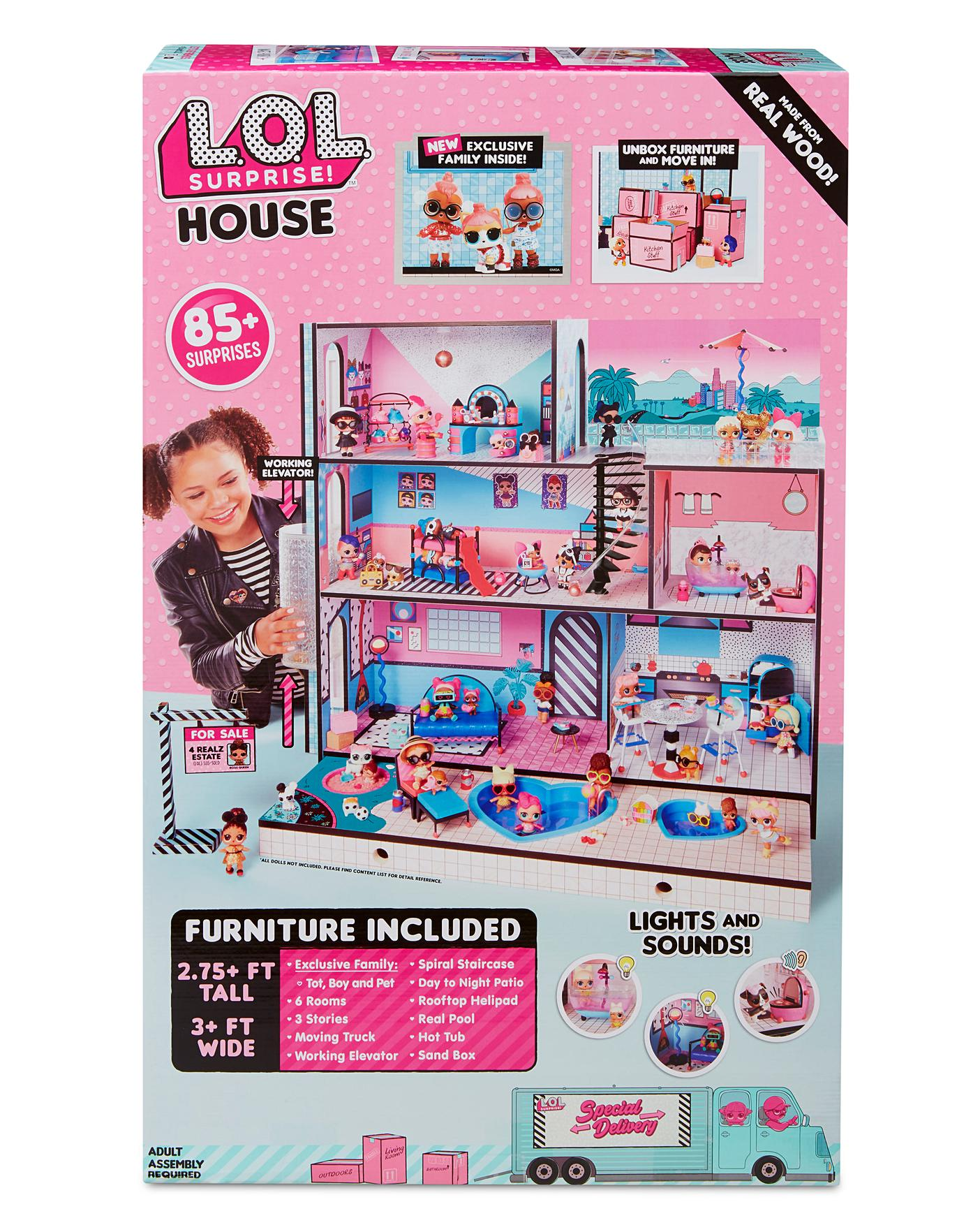 Children Gifts LOL SURPRISE DOLL HOUSE Made with REAL WOOD SURPRISES!