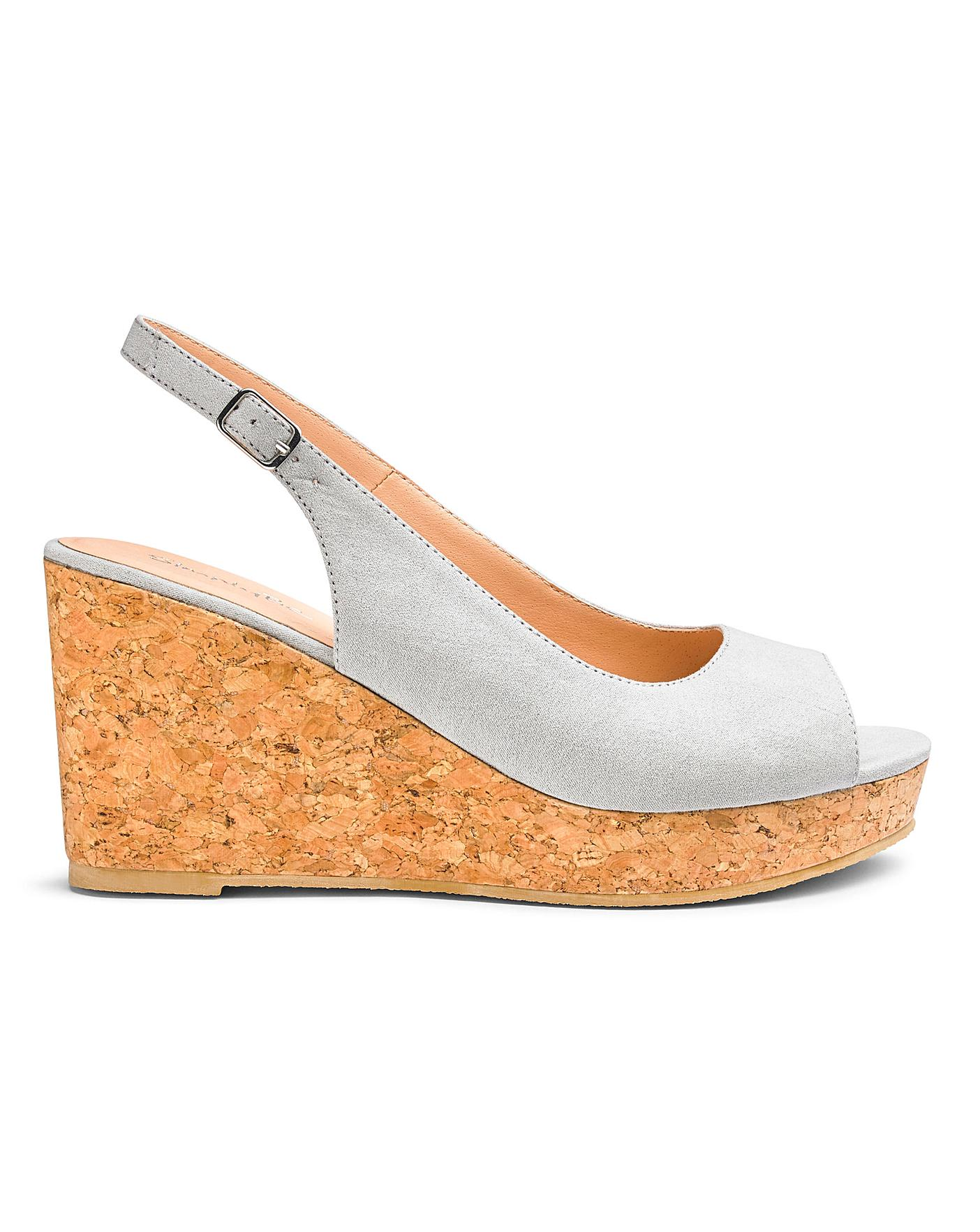 Jojo Basic Wedge Extra Wide Fit   Oxendales