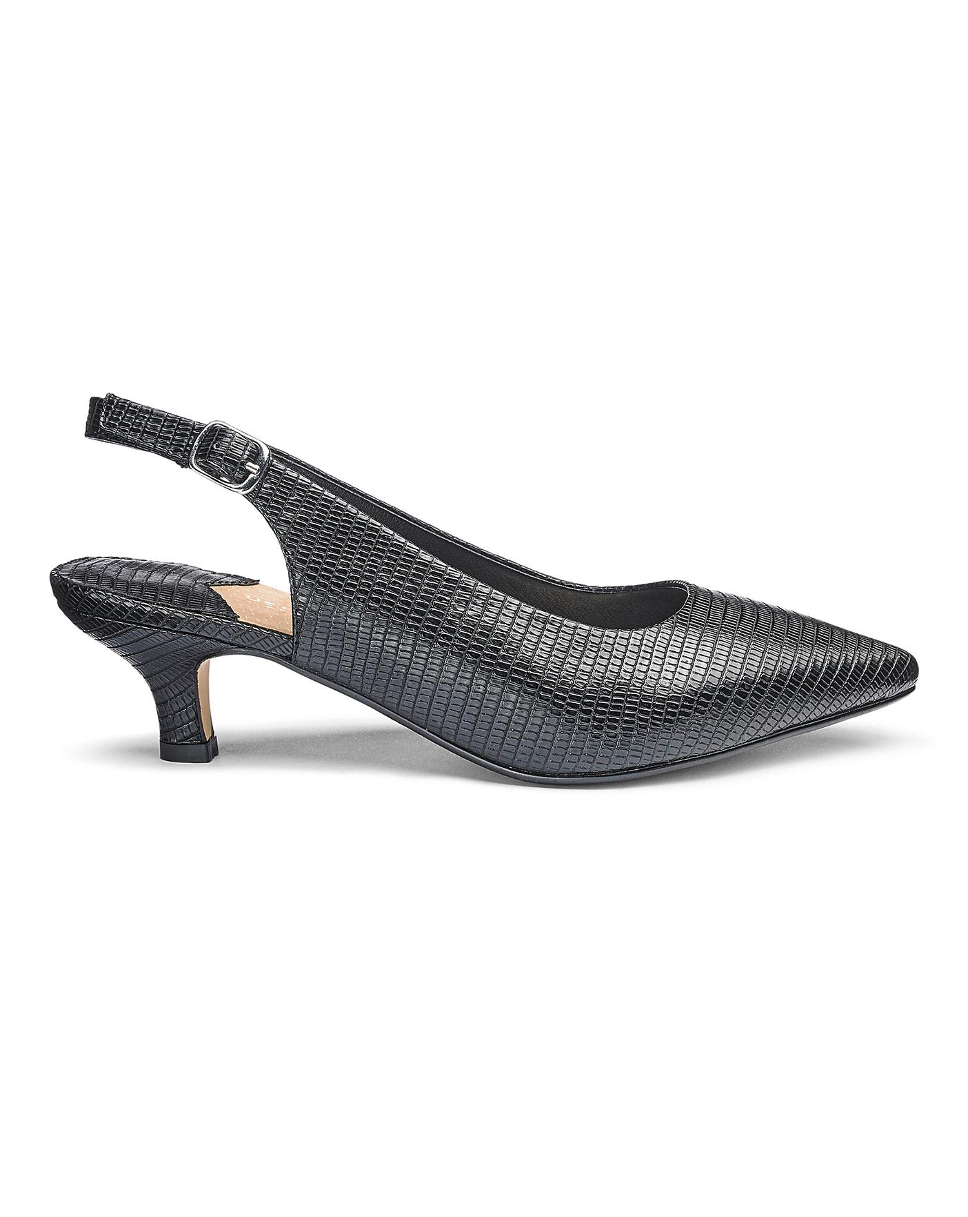 Womens Heavenly Soles Slingback Shoes Simply Be