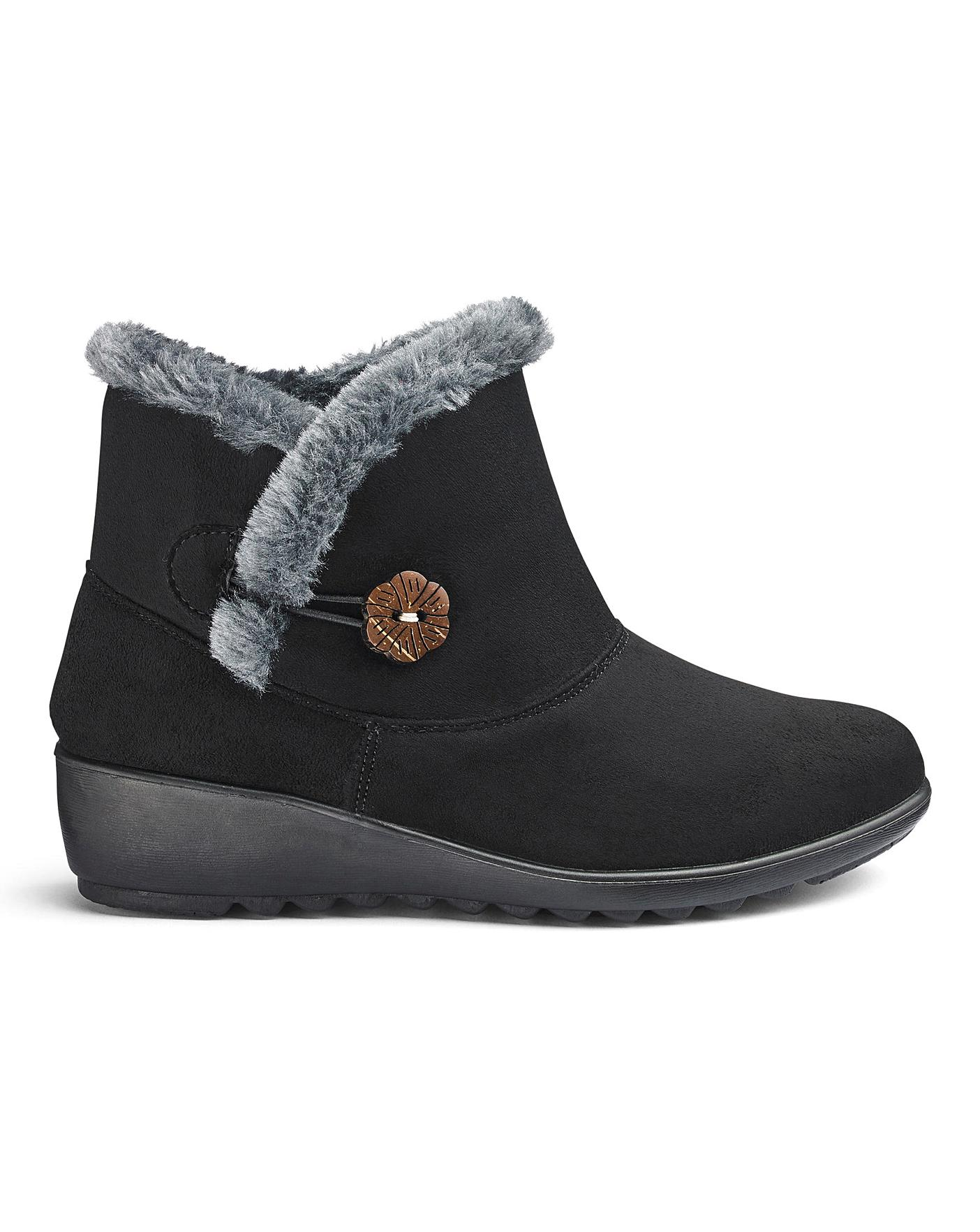 wholesale price factory price elegant shoes Cushion Walk Ankle Boots EEE Fit | Crazy Clearance
