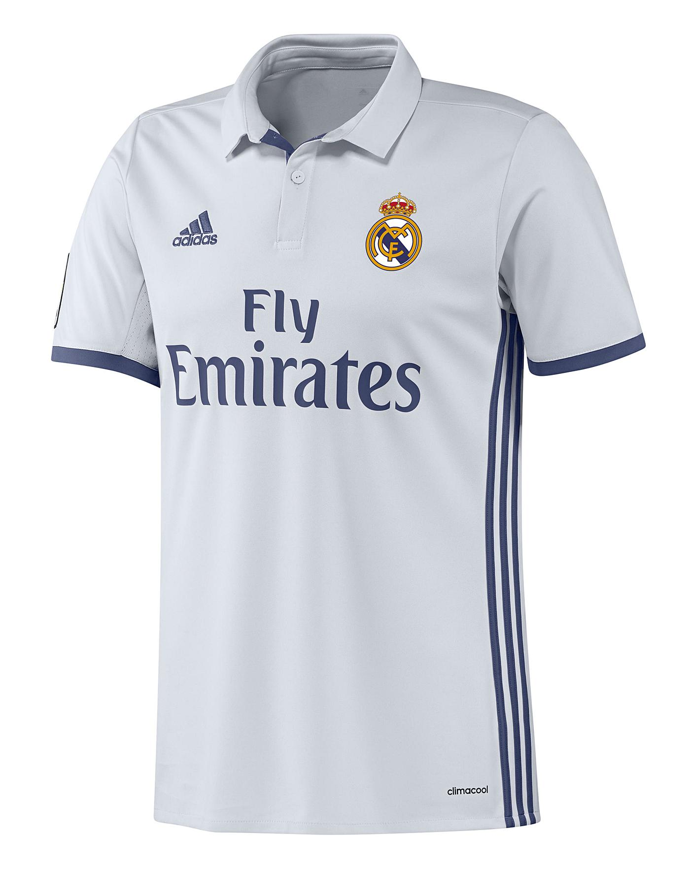 best sneakers 65188 1aebe adidas Real Madrid Home Replica Shirt