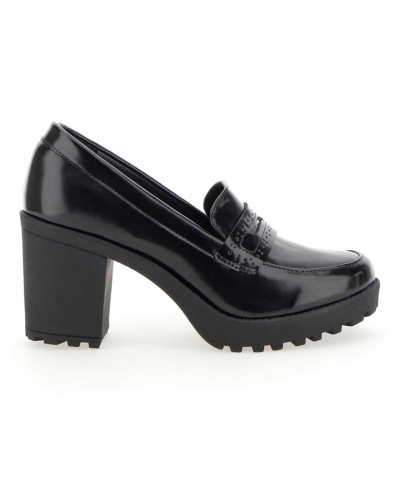 Cilla Heeled Loafer Extra Wide Fit