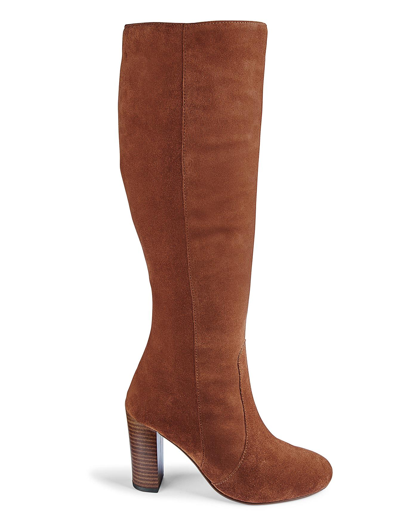 new appearance hot product order online Lani Leather Wide Fit Standard Calf   Simply Be