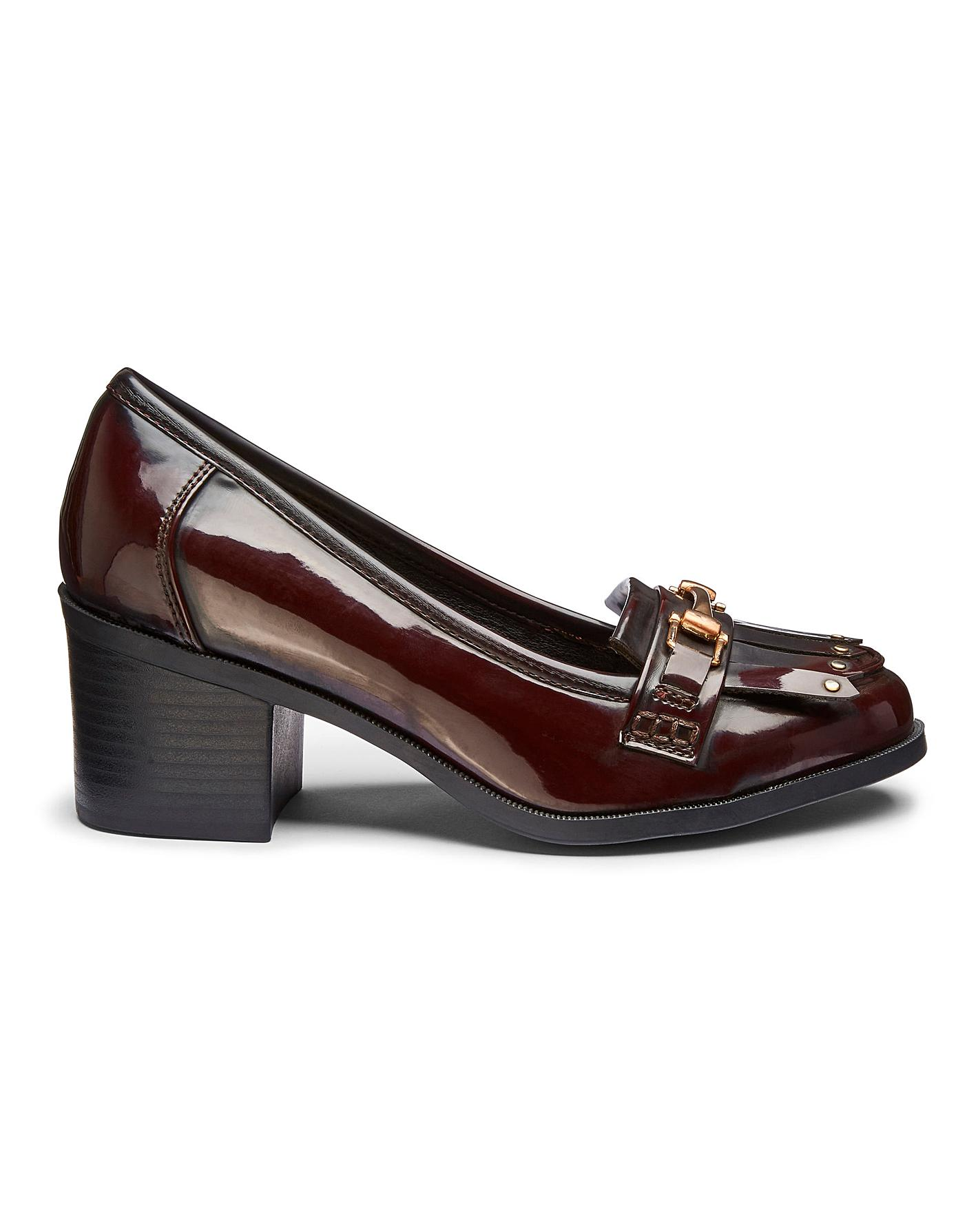 Arna Heeled Loafer Wide Fit   Oxendales