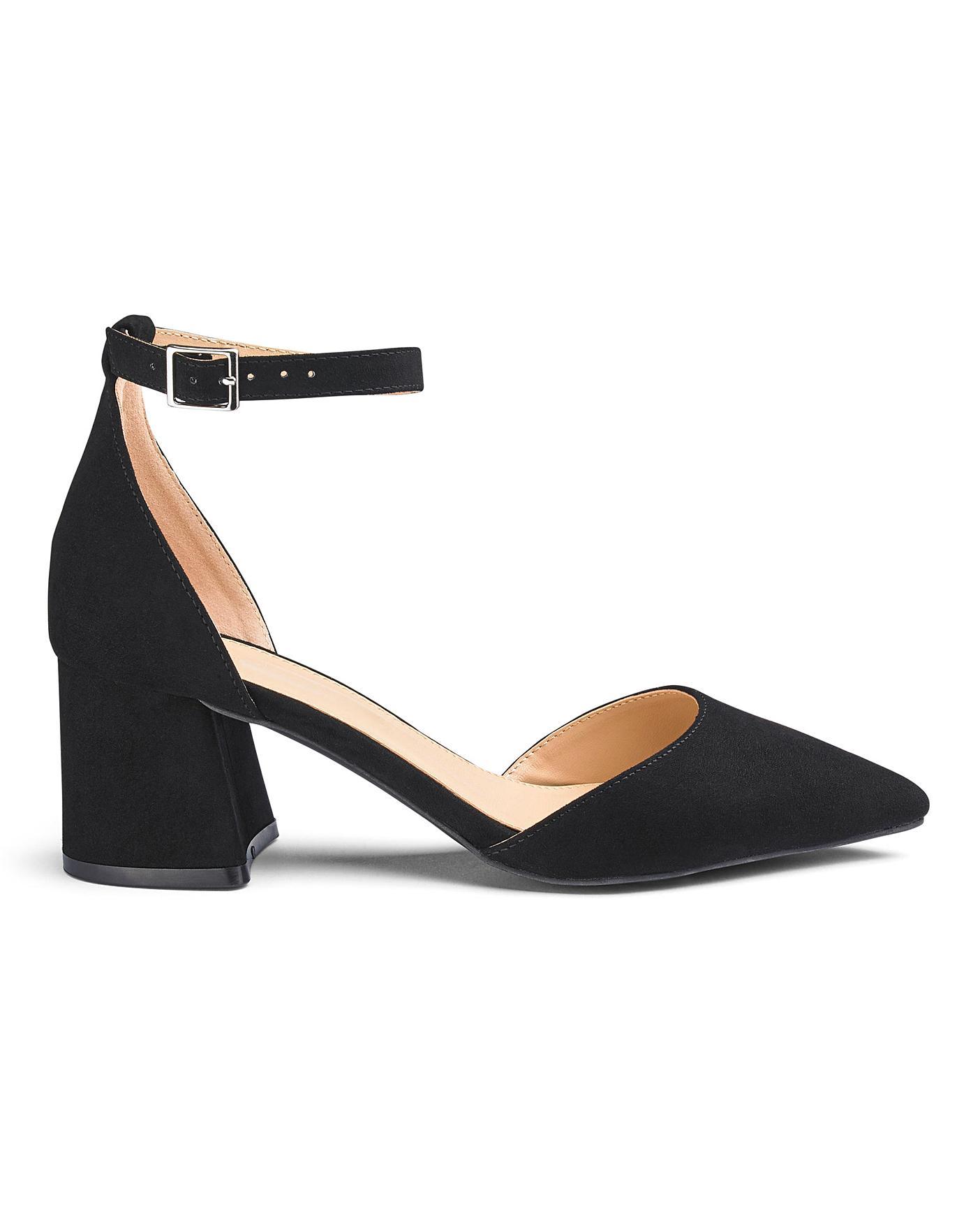 Este Pointed Block Heels Wide Fit | J D