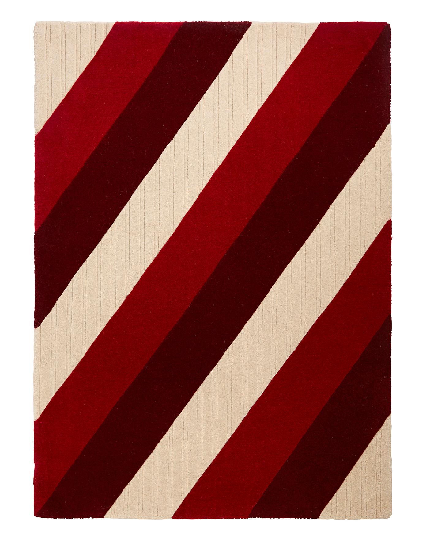 Verona Stripe Wool Rug J D Williams