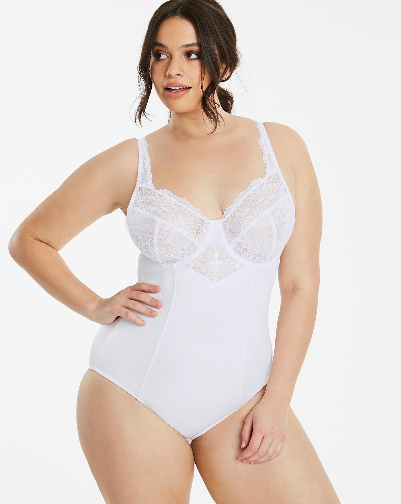 a08657a9d3 Ella Lace Firm Control White Bodyshaper