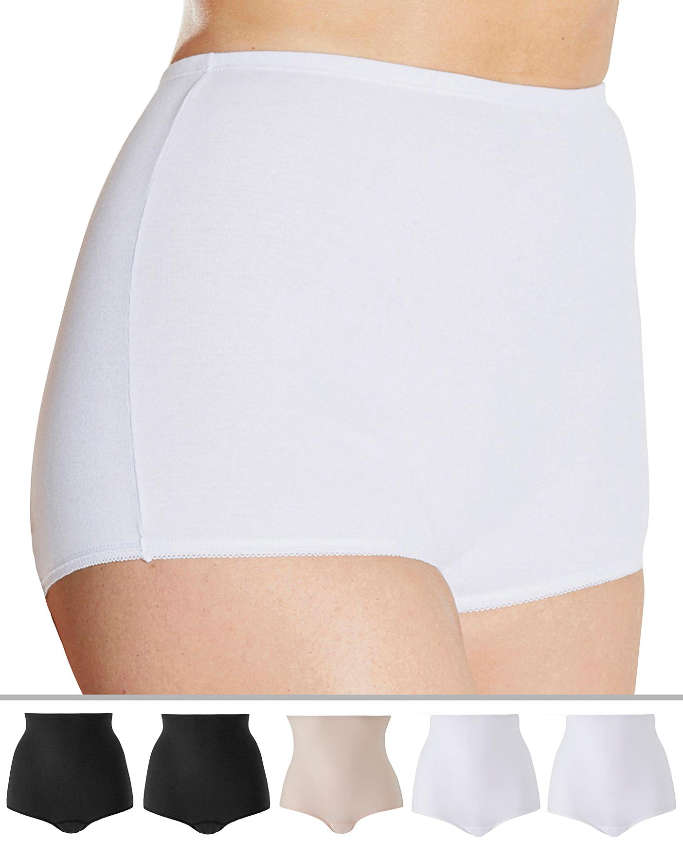 CLEARANCE White Cotton Everyday Knickers  size 12//14 /& 20//22 Available