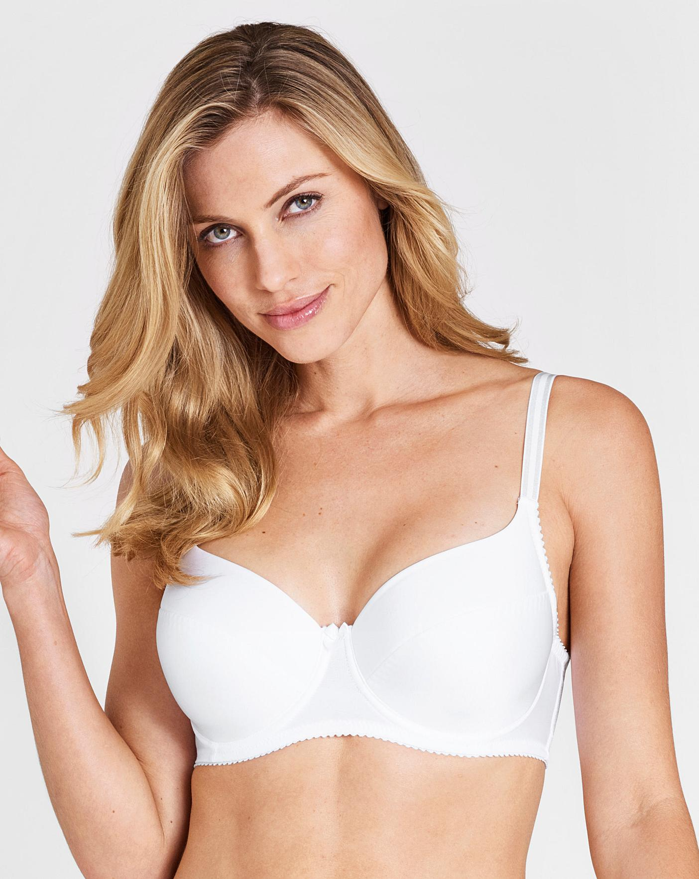 d9c309a1bb15 Miss Mary Padded Wired White Bra | Simply Be
