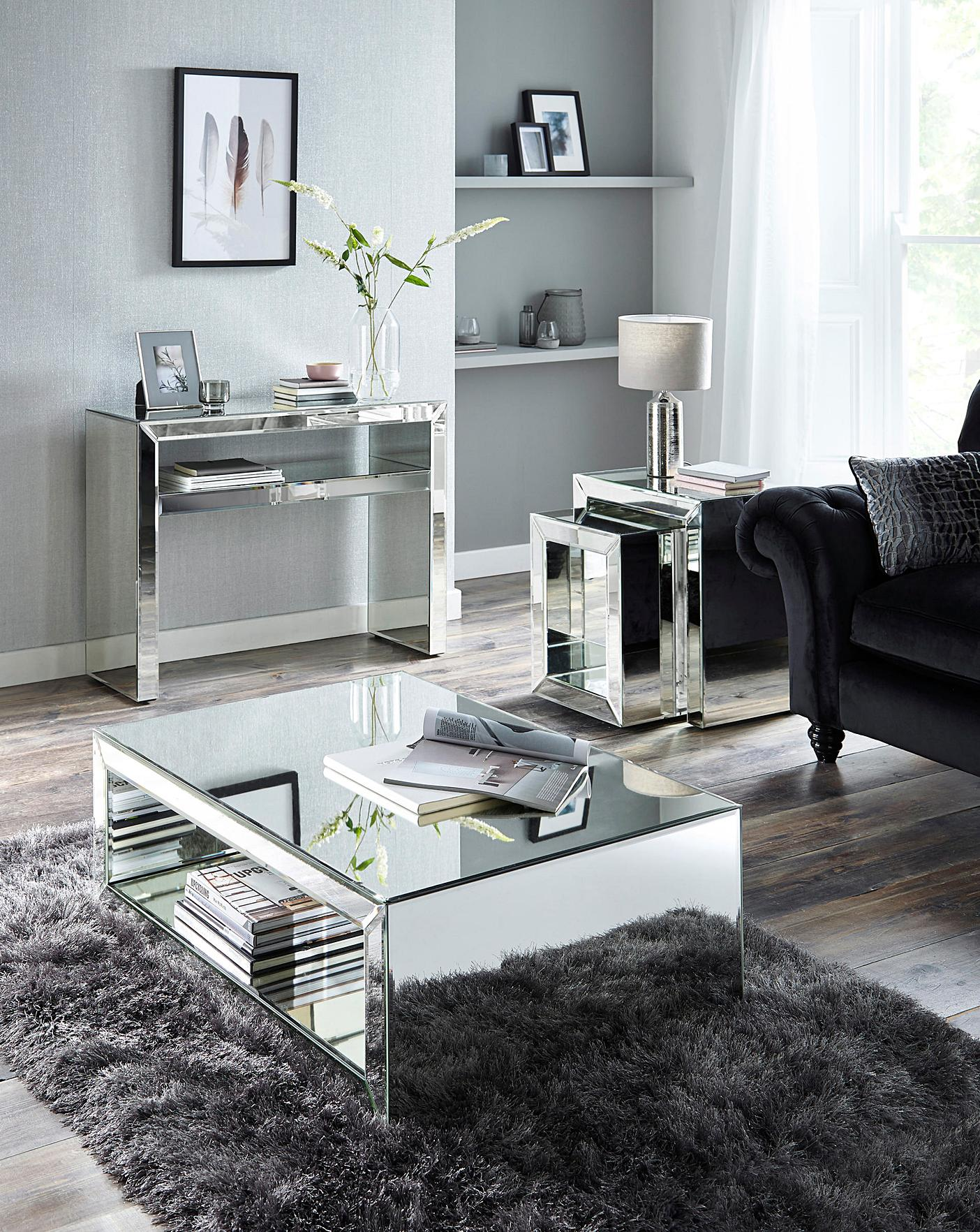 Biarritz Mirrored Coffee Table Simply Be