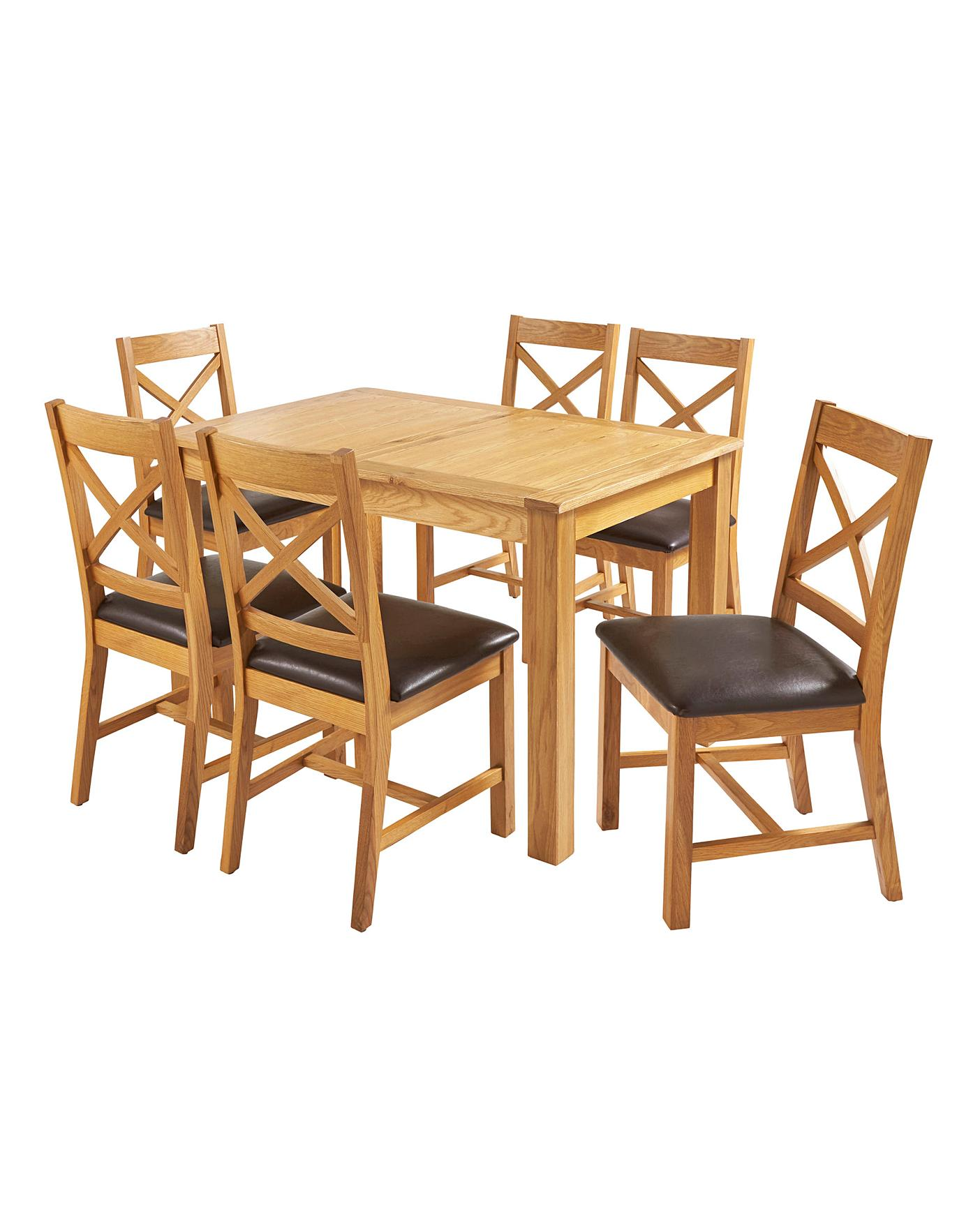 Norfolk Large Extending Table 6 Chairs Marisota