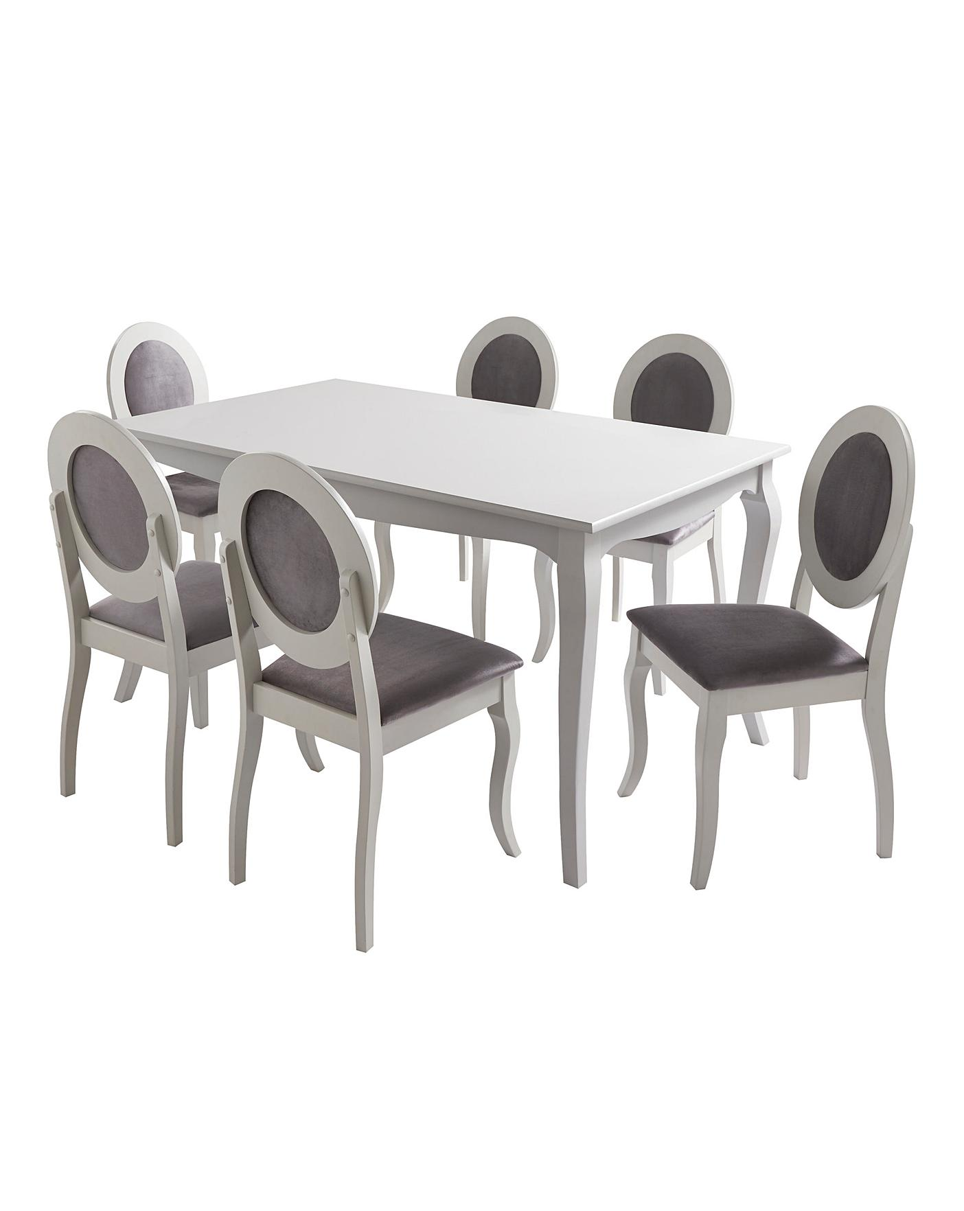 Elise Large Dining Table 6 Chairs