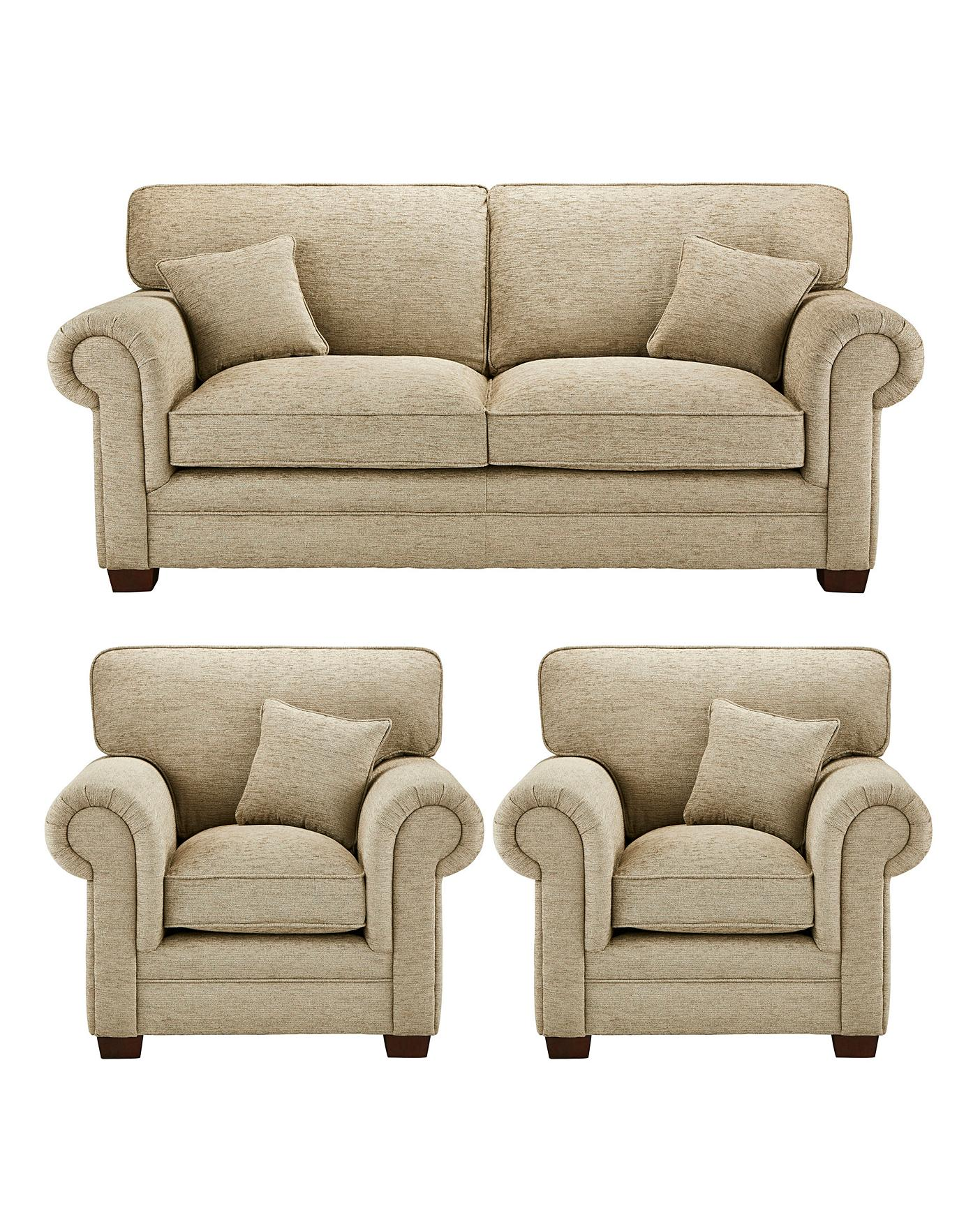 Avery 3 Seater Sofa Plus 2 Chairs J D
