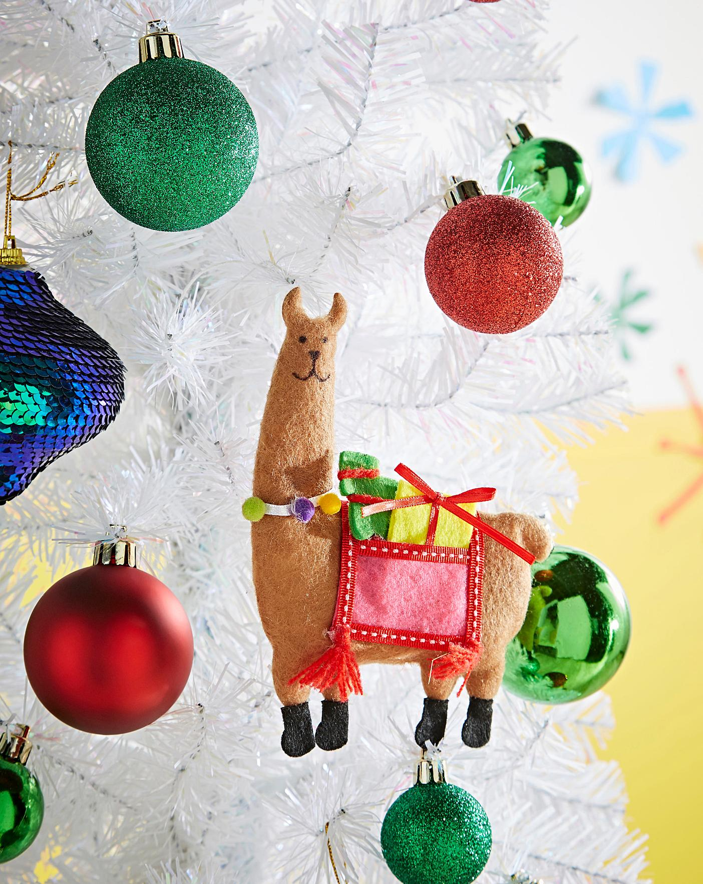 Llama Christmas Decorations.Set Of 6 Felt Llama Tree Decorations