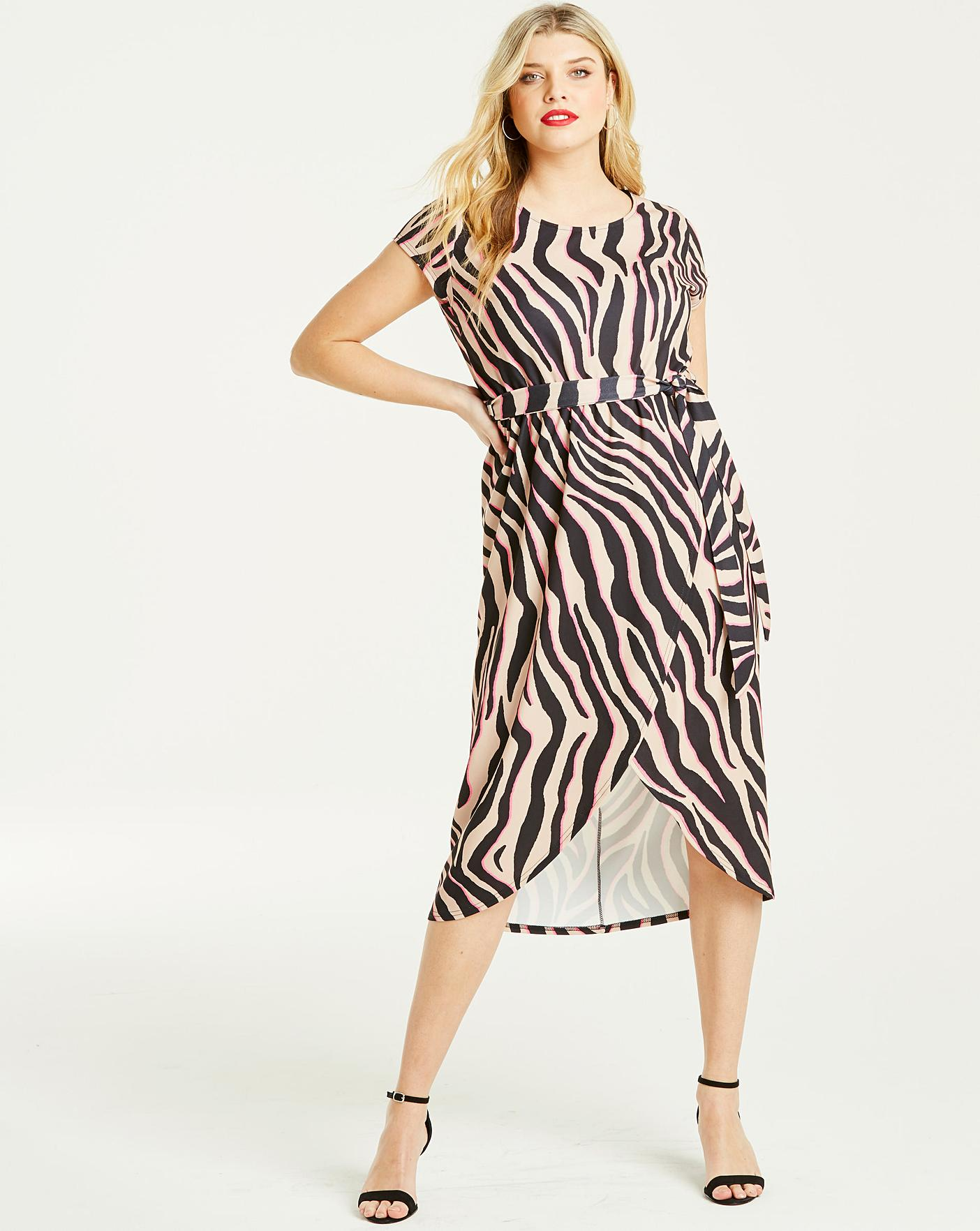 f4030cdc54 Quiz Curve Neon Animal Print Dress