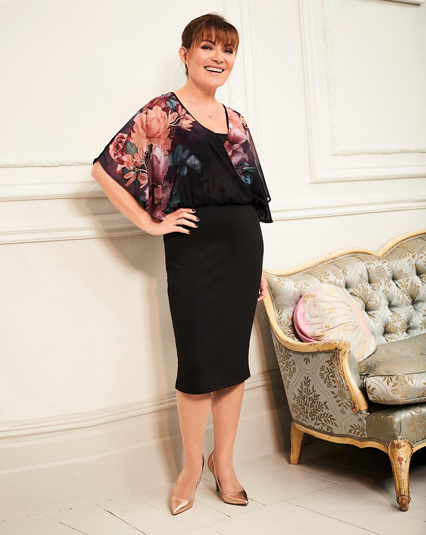 Lorraine Kelly Floral Blouson Wrap Dress Crazy Clearance