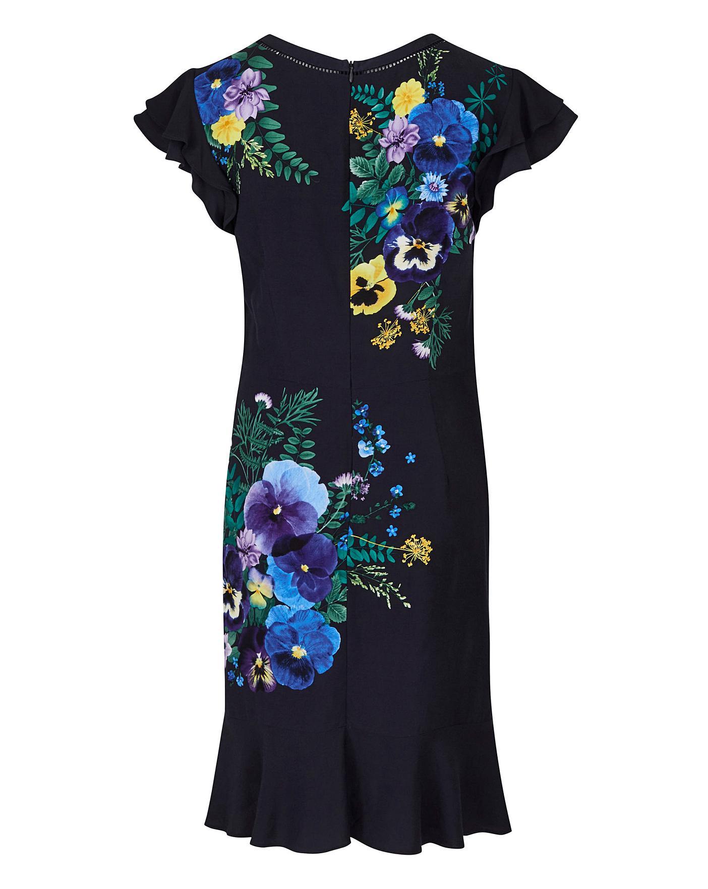 cbbbf9269ba Oasis Pressed Flower Skater Dress