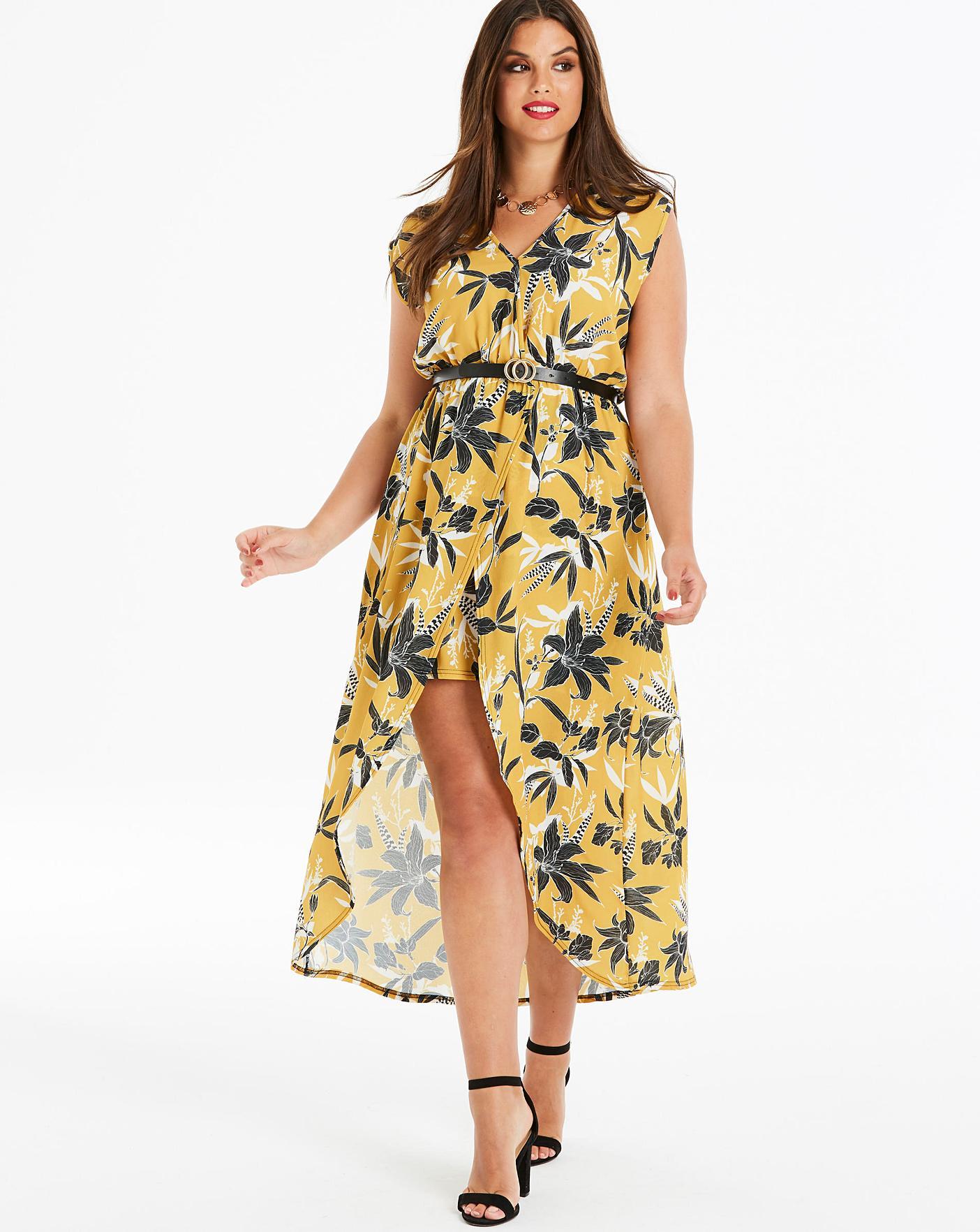 3aa027d6ca Quiz Curve Floral Printed Wrap Dress