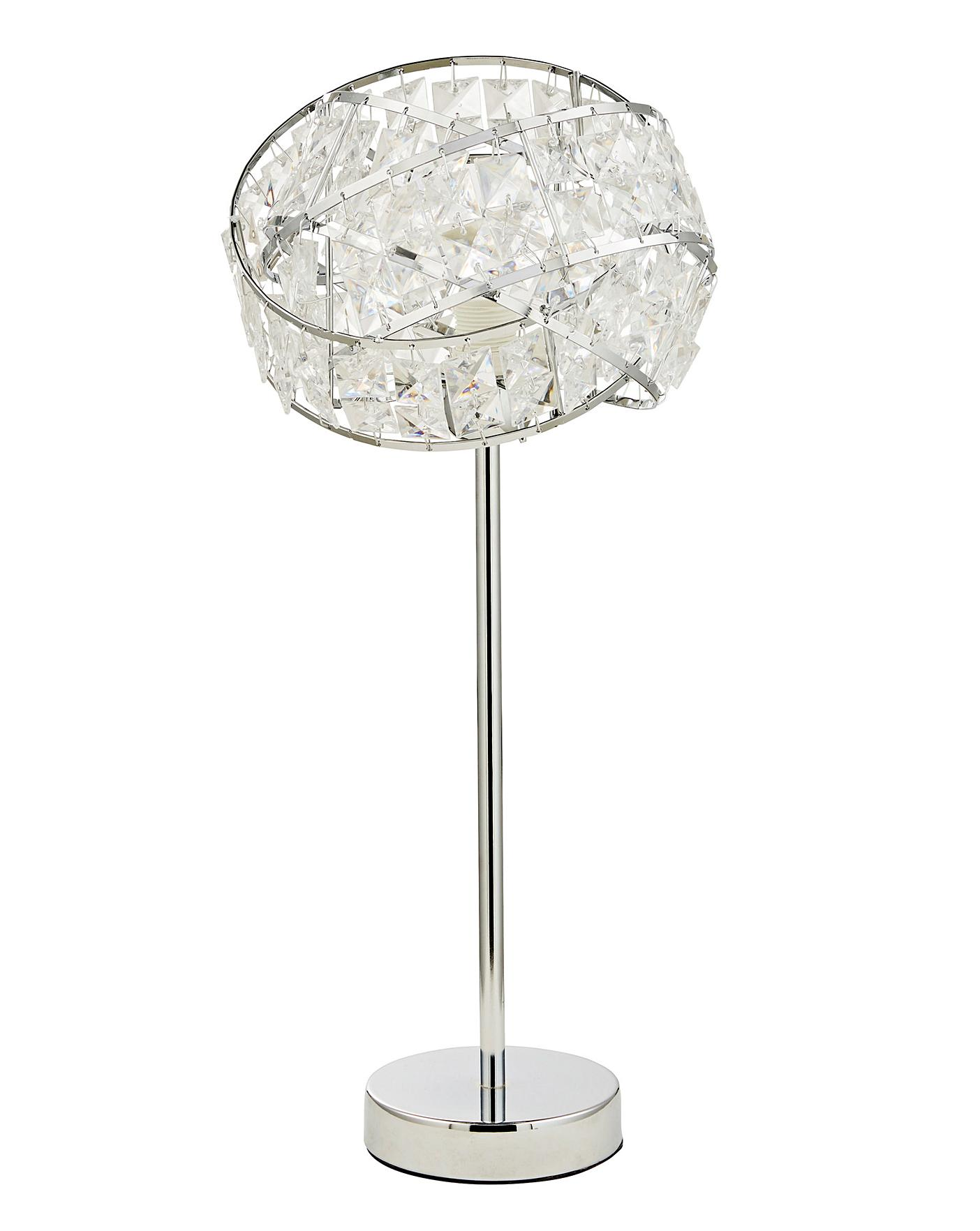 Twist Acrylic Table Lamp Home Essentials