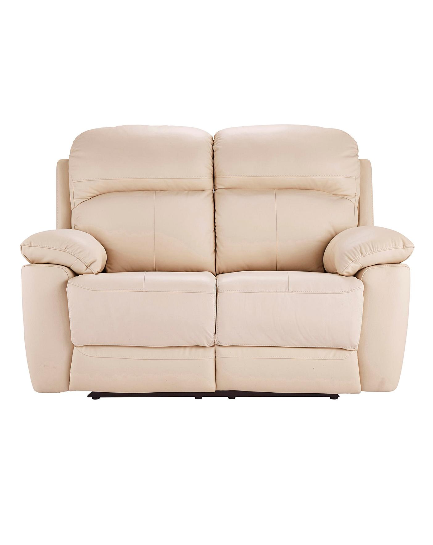 Roma Leather Recliner Two Seater Sofa