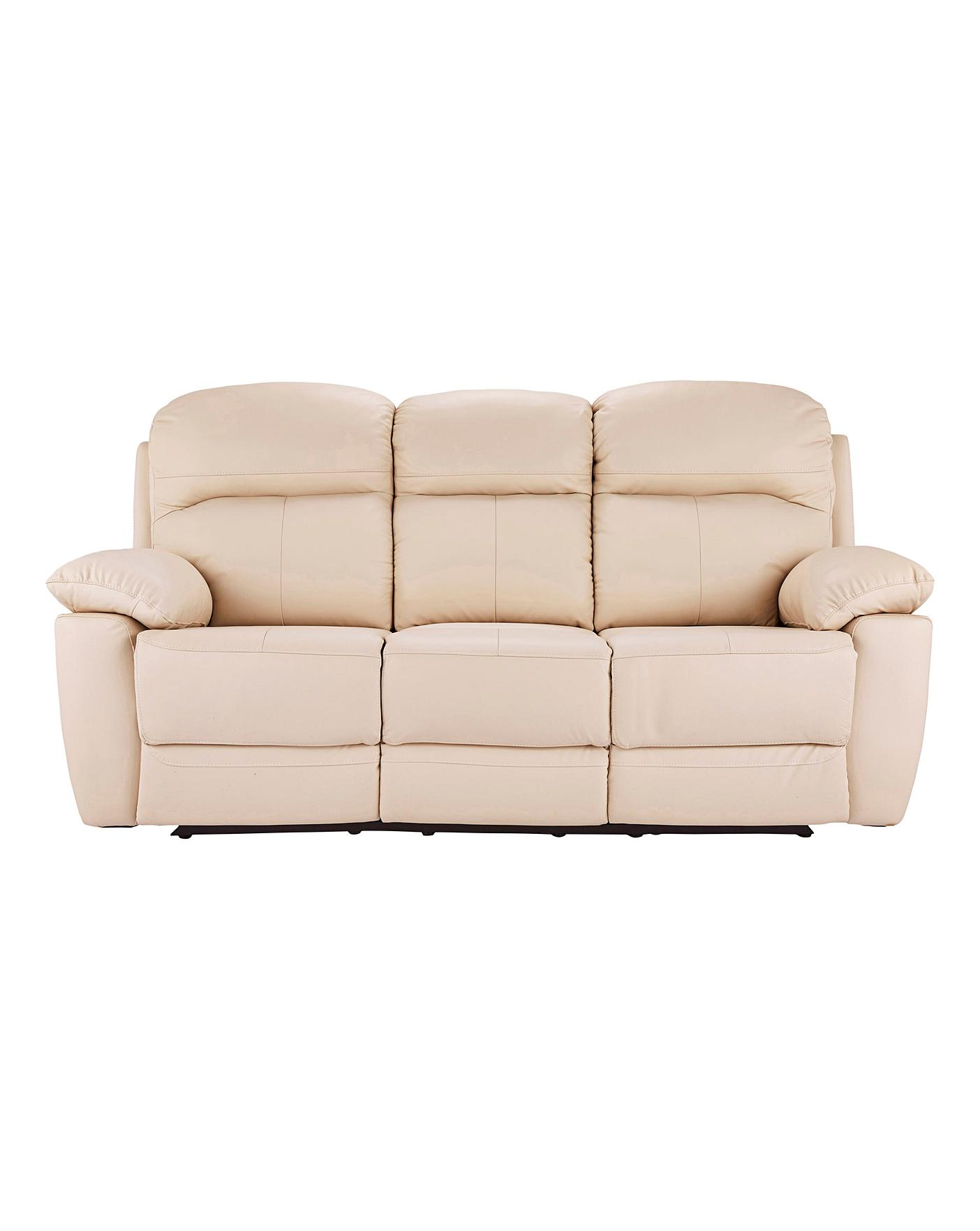 Picture of: Roma Leather Recliner Three Seater Sofa J D Williams