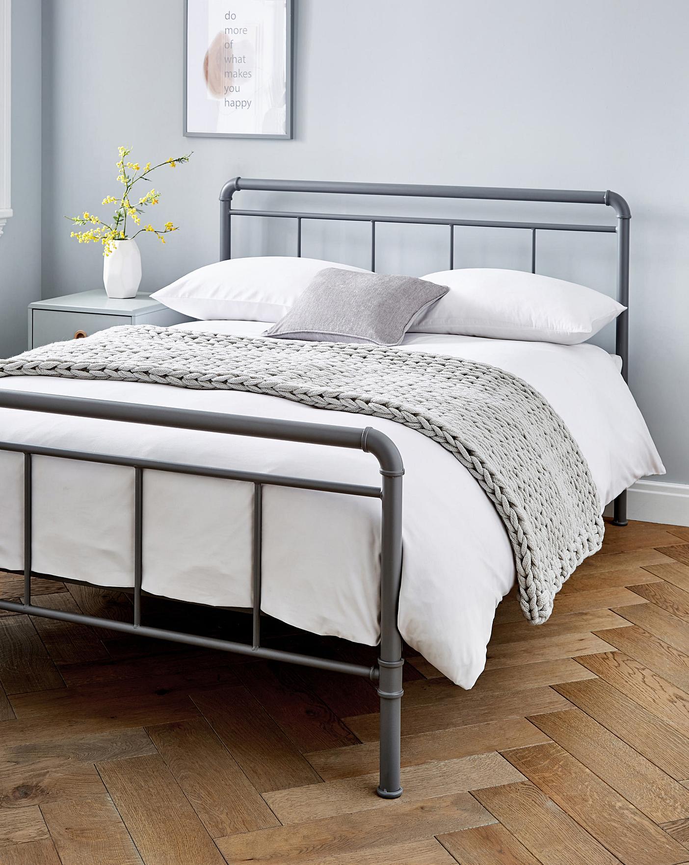 Bowen Industrial Metal Bed Frame Oxendales