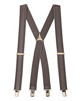 &City Patterned Striped Braces