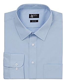 &City Tall Single Cuff Plain Easycare Long Sleeved Shirt