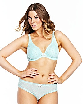Simply Yours Black Mint Plunge Bras
