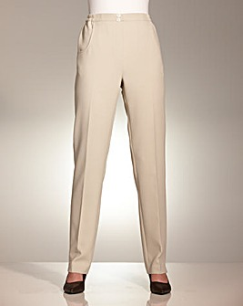 Essential Collection Straight Leg Pull On Trousers Length 27inches