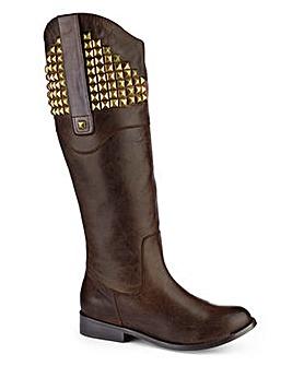 Legroom Studded Hi Leg Boot Curvy Calf Width EEE Fit