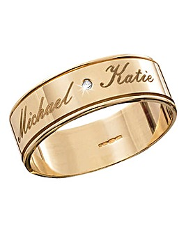 Personalised Gents 9ct Gold Wedding Band