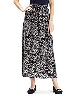 Petite Print Maxi Skirt 32in
