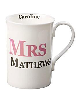 Personalised Mrs Mug