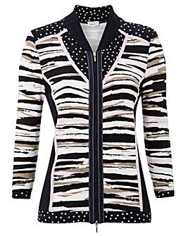 Gelco Stripe Jersey Zip Through jacket