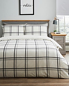 Broden Check Mono Duvet Set