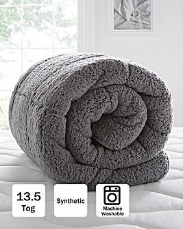 Grey Cuddle Fleece 13.5 Tog Duvet