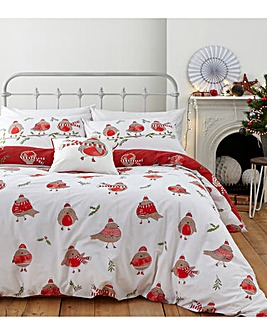 Robins Reversible Duvet Cover Set