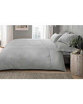 Waffle Button Grey Duvet Cover Set