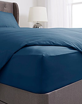 Washed Cotton 28cm Fitted Sheet
