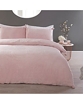 Pom Pom Blush Duvet Cover Set