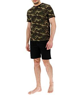 Camo Print Short Pyjama Set