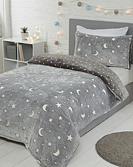 Moons & Stars Fleece Duvet Cover Set